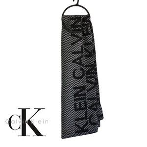 """Calvin Klein Premium Scarf Professional With Brand Detailing 68"""" In Length NEW"""